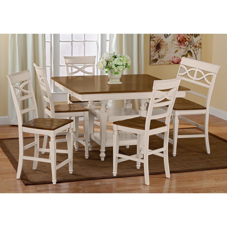 chesapeake ii counter height bench value city furniture seasonal rh pinterest ie