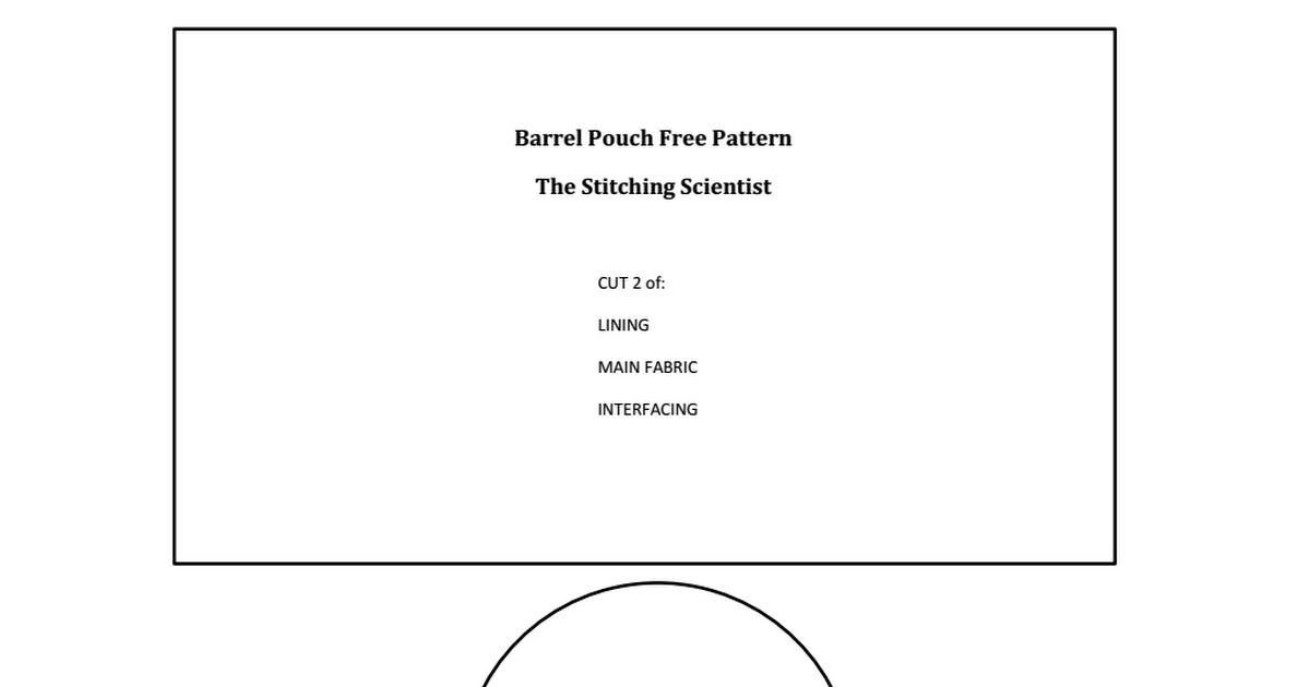 barrel Pouch Pattern.pdf | confección | Pinterest