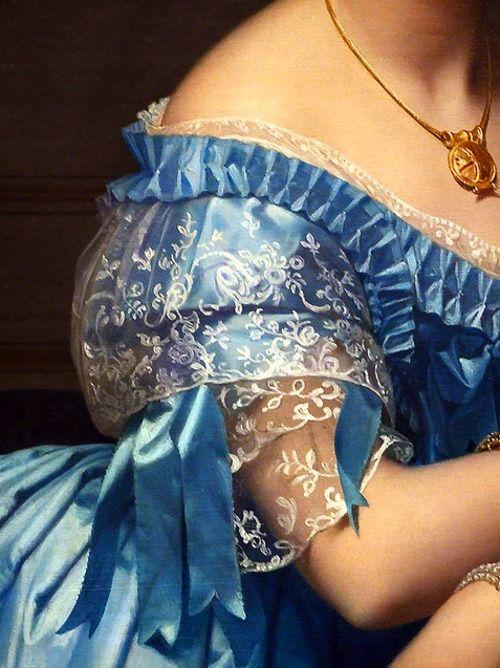 Jean Auguste Dominique Ingres, Princesse de Broglie detail (1851–53)