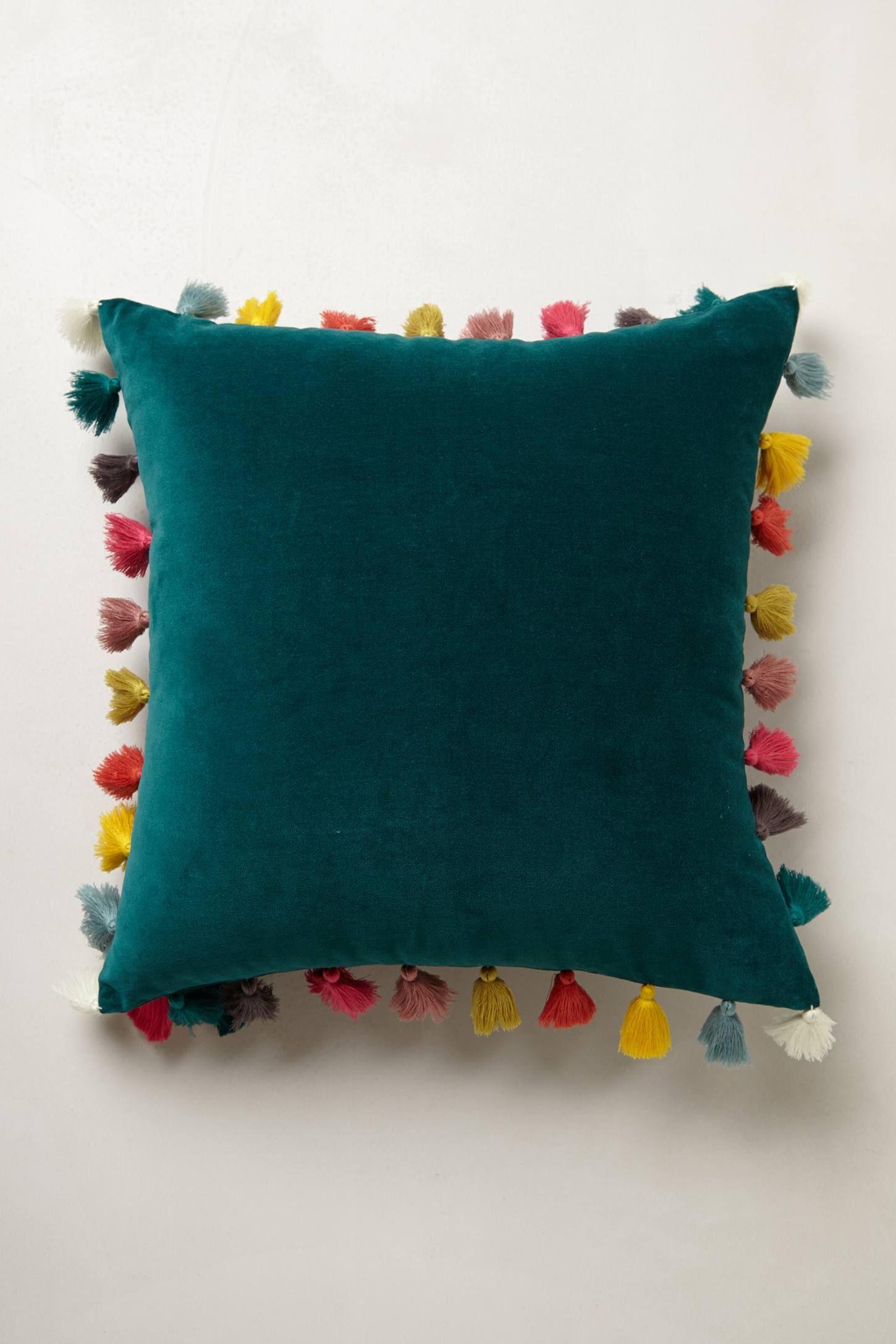 Anthropologie Firenze Velvet Tassel Pillow these