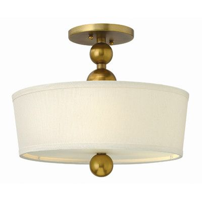 Hinkley Lighting Zelda 3 Light Semi Flush Mount Reviews Wayfair Living Room Ceiling