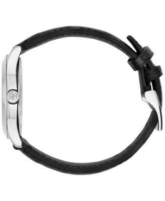 5336c2a6c4f Gucci Women s Swiss Automatic G-Timeless Black Alligator Leather Strap  Watch 38mm YA126469 - Black