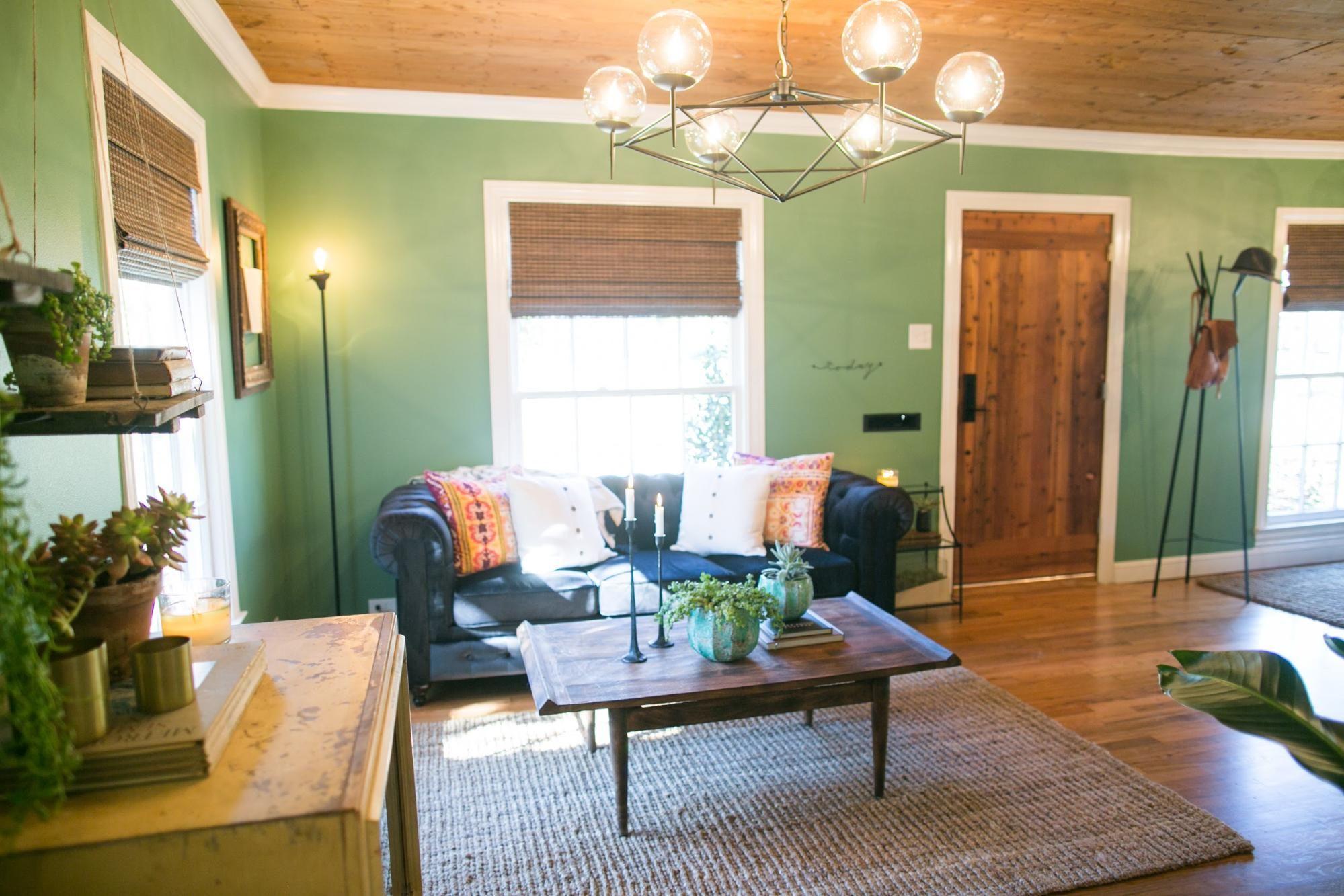 Love all the natural wood front door hardwood floors ceiling