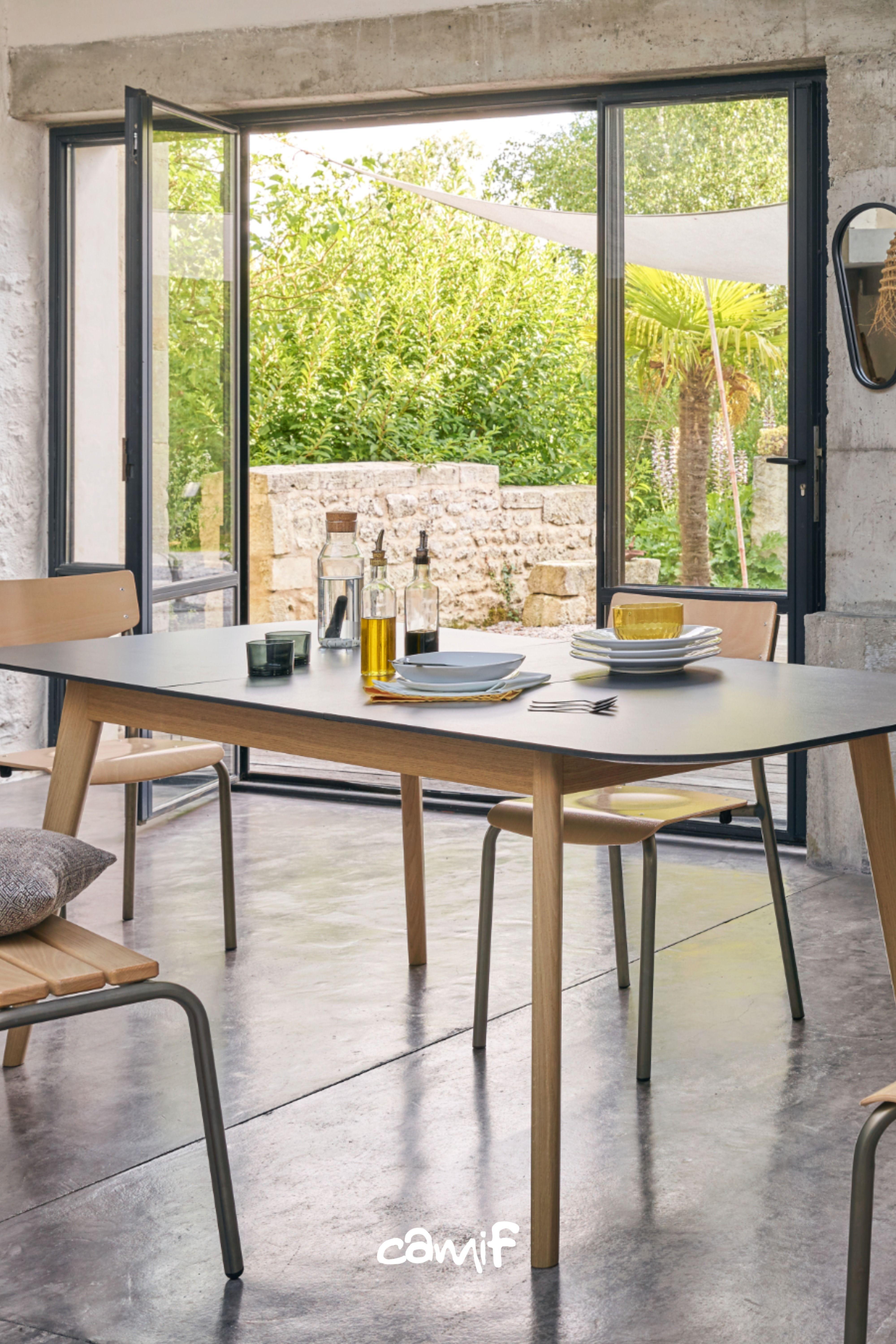 Camif Table De Repas En Bois Fume En 2020 Salle A Manger Veranda Mobilier De France Table Repas
