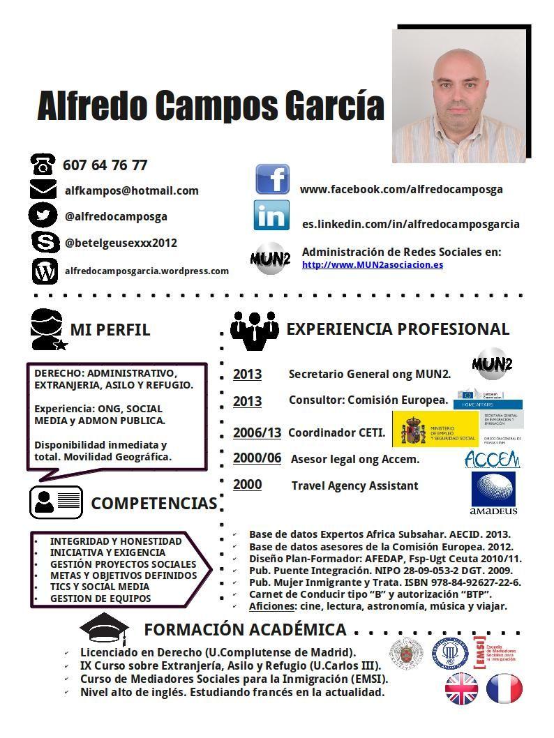 CV resumen 2014 | Trayectoria profesional y CV | Pinterest | Resumen ...