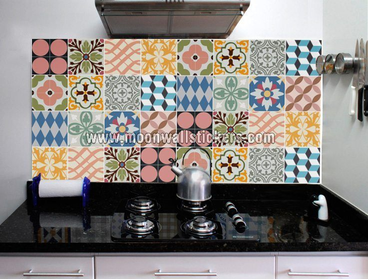 apply this kitchen tiles stickers traditional in any flat surface rh pinterest com