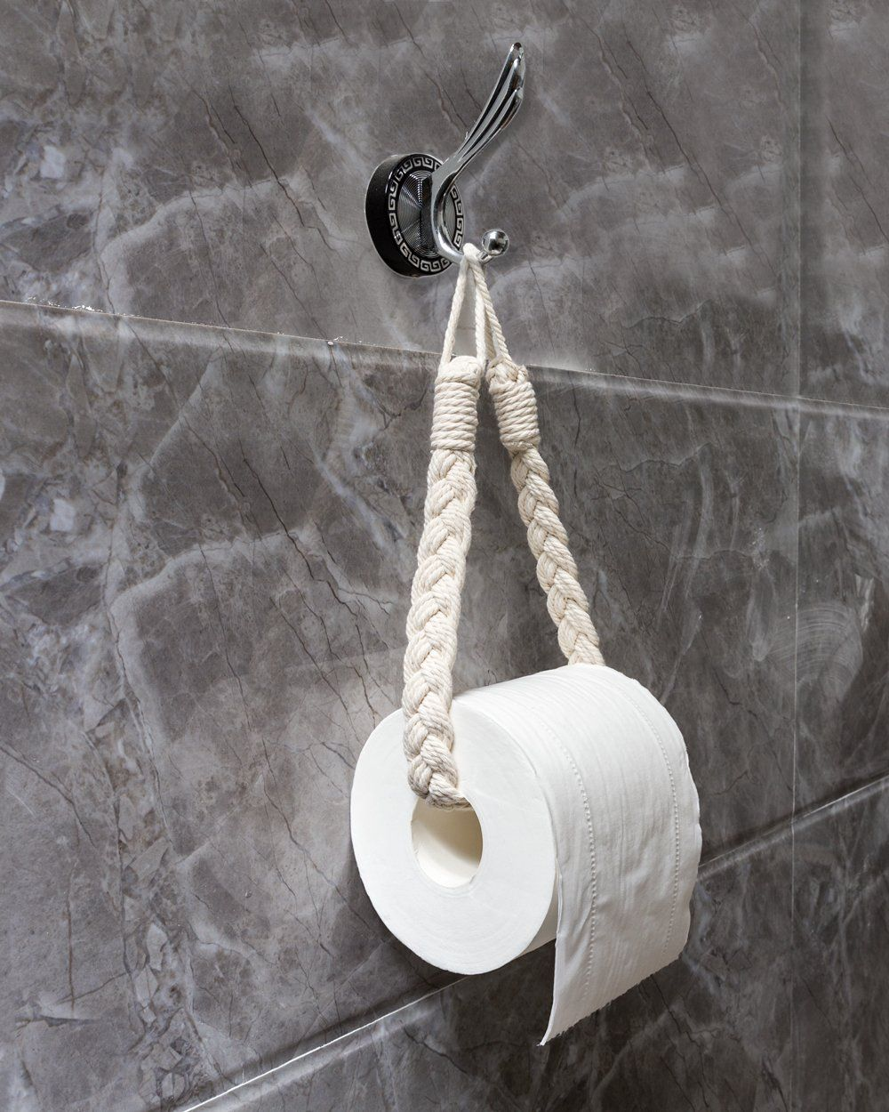Mkono 2 Pack Toilet Paper Holder Tissue Roll Hanger Macrame Curtain Tiebacks See This Great Item This Is An Affi Curtain Holder Handmade Home Toilet Roll