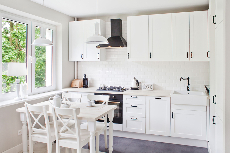 Biała Kuchnia Retro Kitchen Kuchnia Jadalnia I Styl