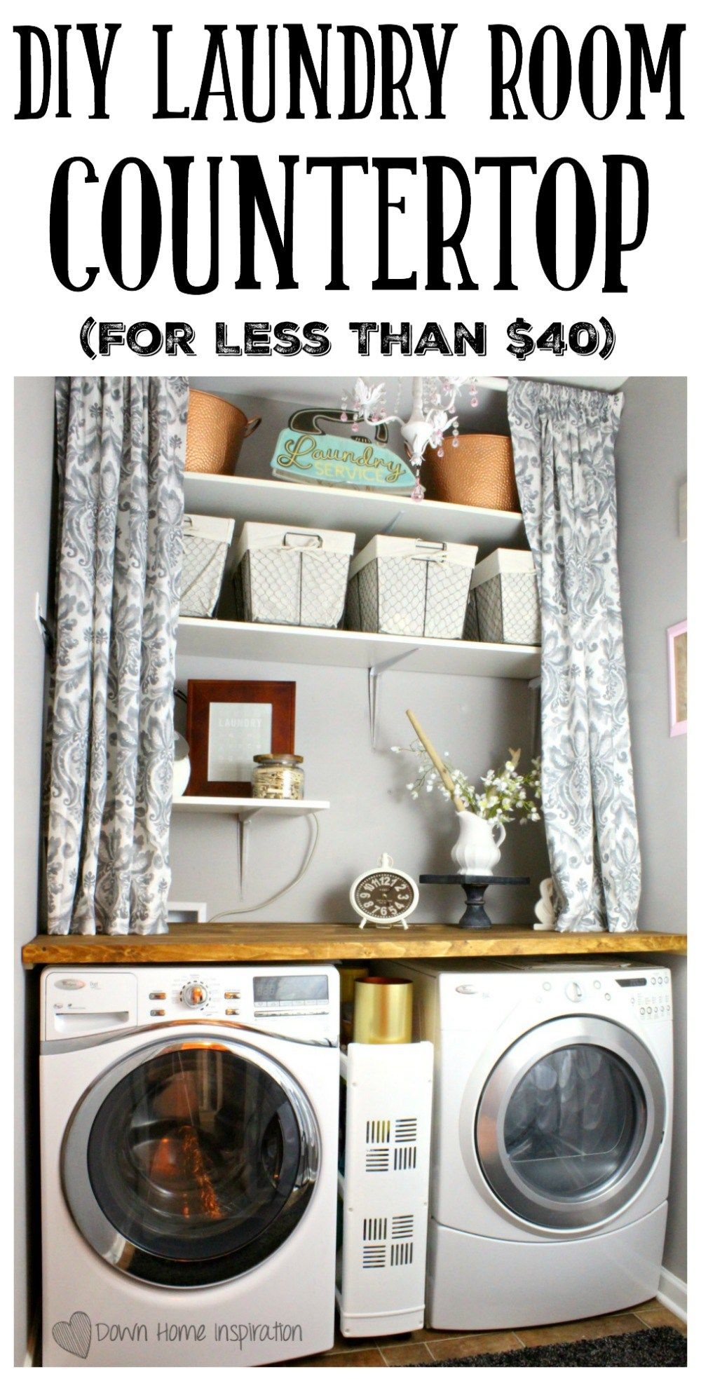 Diy Laundry Room Countertop For Under 40 Walks Washers