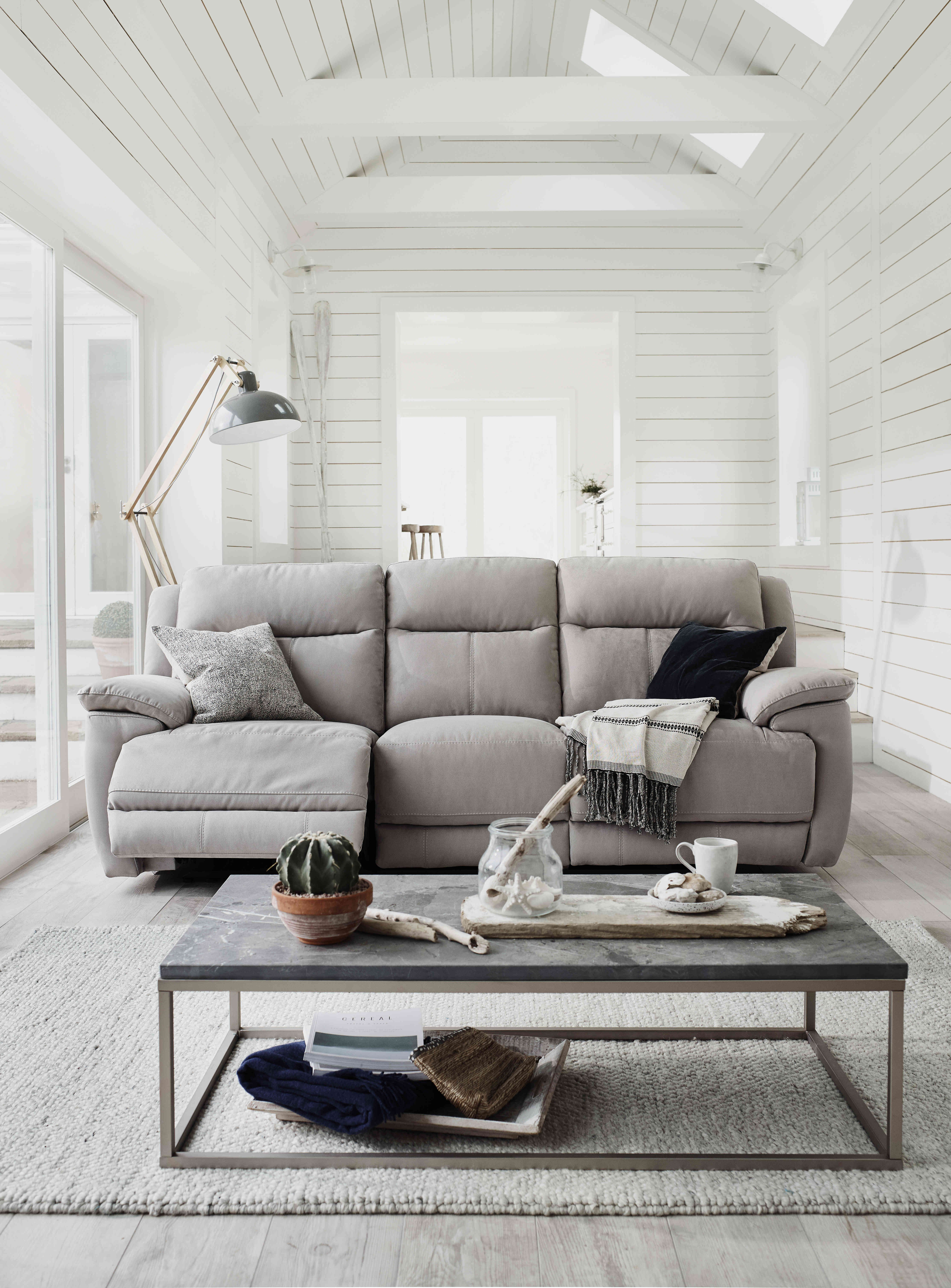 grey white and oh so bright living room featuring the super comfy rh pinterest com