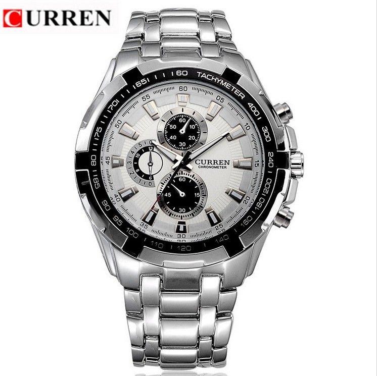 Pánské moderní hodinky CURREN ve stříbrném barevném provedení – módní hit –  poštovné zdarma Na tento produkt se vztahuje nejen zajímavá sleva 82c7fe9c238