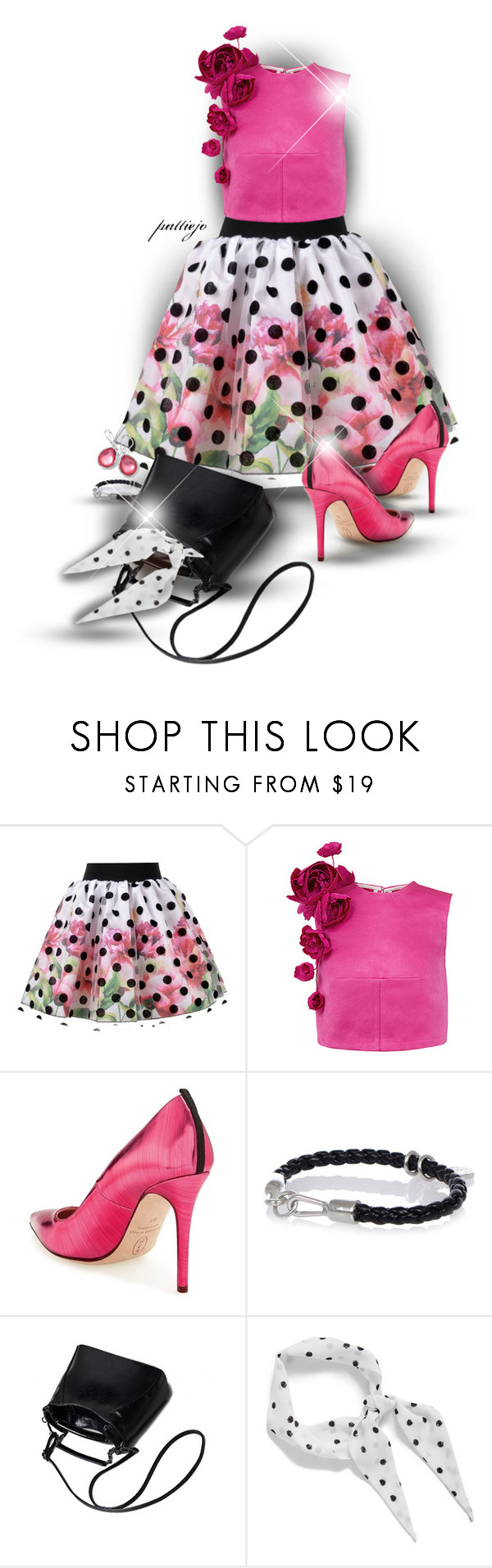 """""""Polkadot Tulle"""" by rockreborn ❤ liked on Polyvore featuring Love Made Love, Esme Vie, SJP, Diesel, Halogen, Ippolita and Trilogy"""