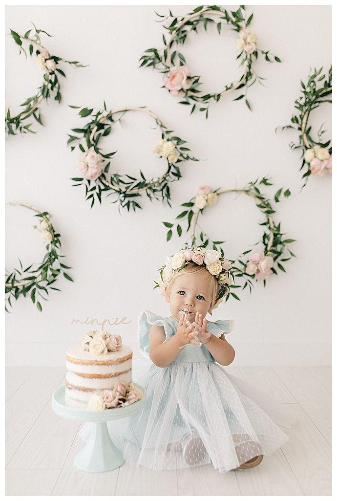 Minnie's Flowery First Birthday Cake Smash - Love Inc. Mag