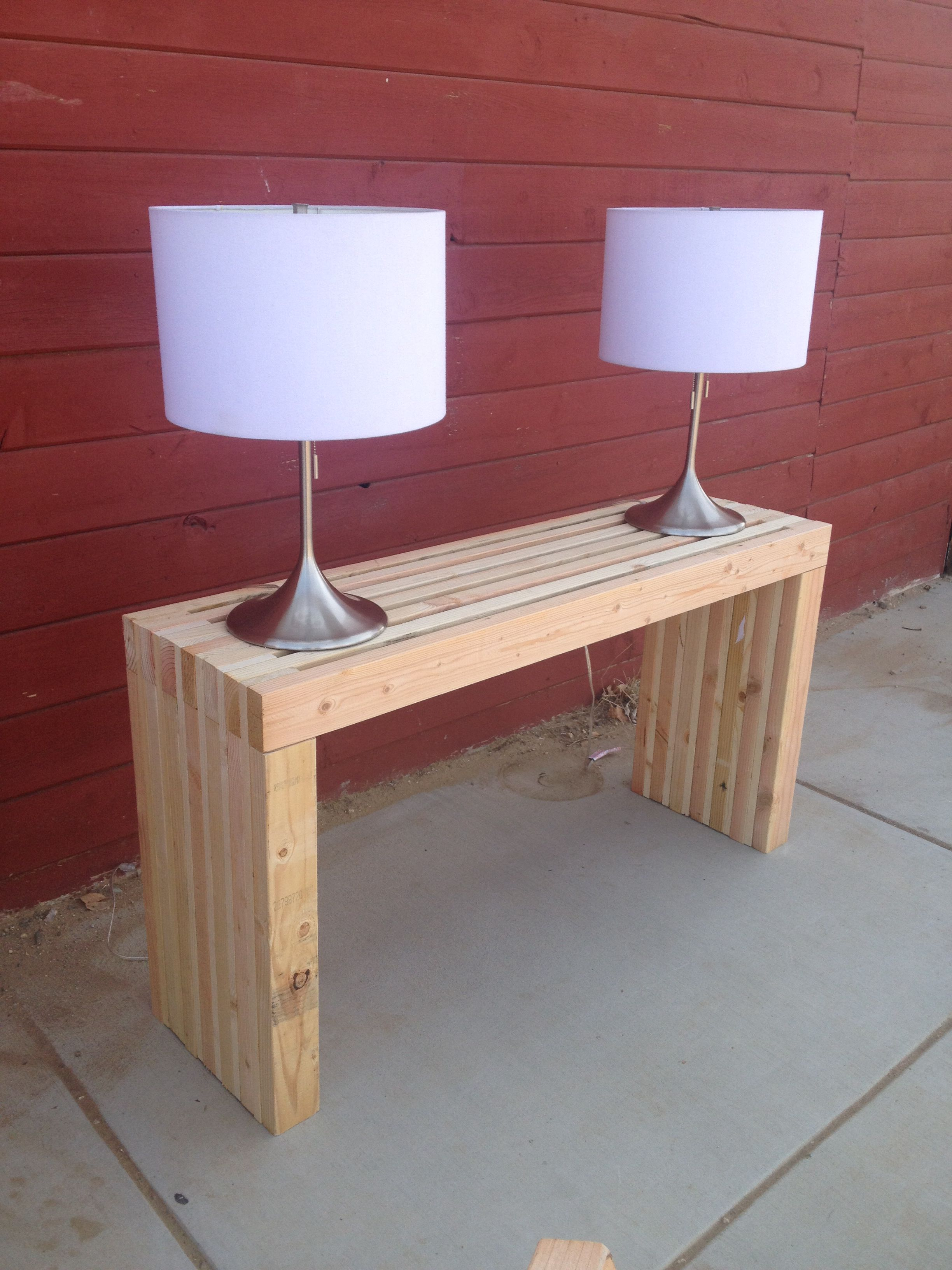 sofa tables pinterest freedom benson reviews completed 2x4 table originals by me