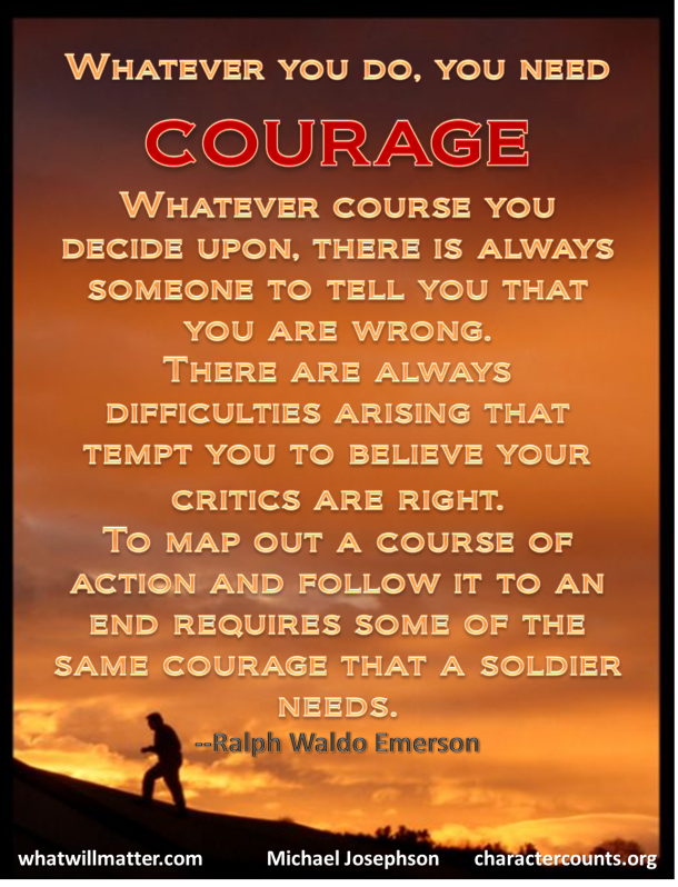 Courage A Message From The Creator