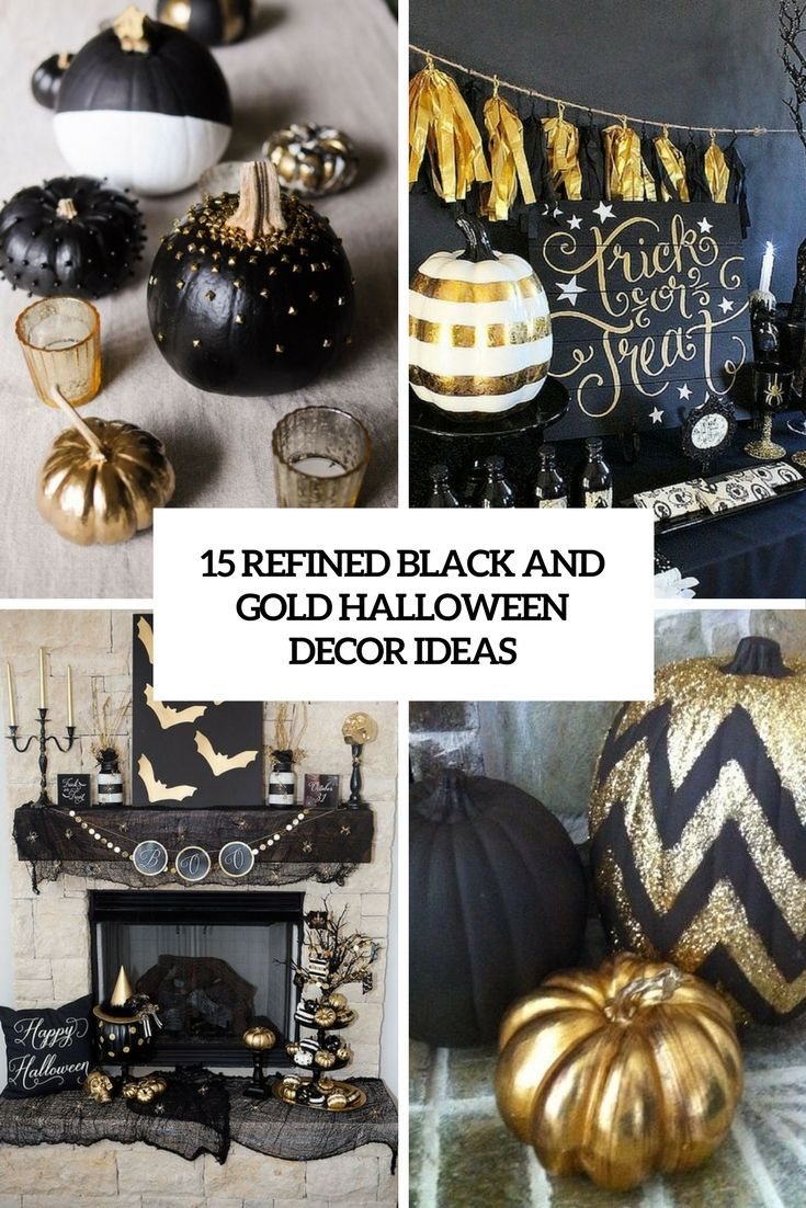 15 Refined Black And Gold Halloween Decor Ideas Halloween