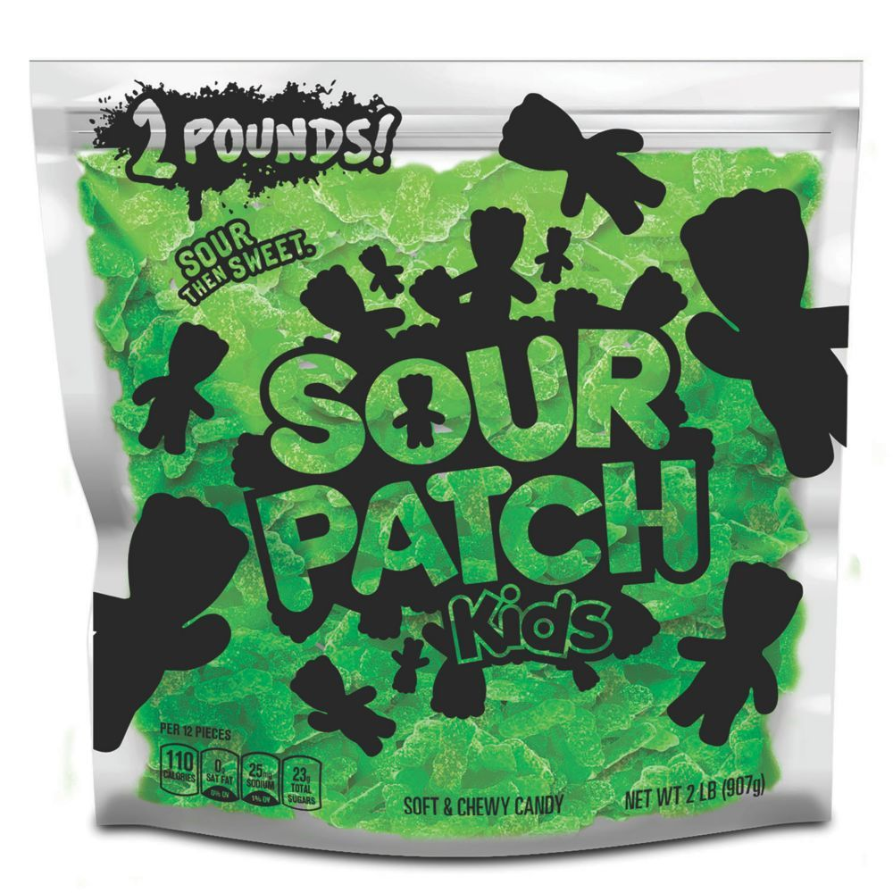Sour Patch Kids Lime Soft Chewy Candy Just Green 2 Lb Party Size Bag In 2020 Sour Patch Kids Chewy Candy Patch Kids