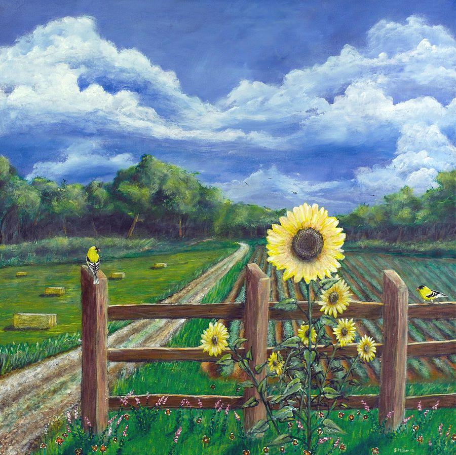 Finch Farm Painting Paintings Farm Paintings Painting