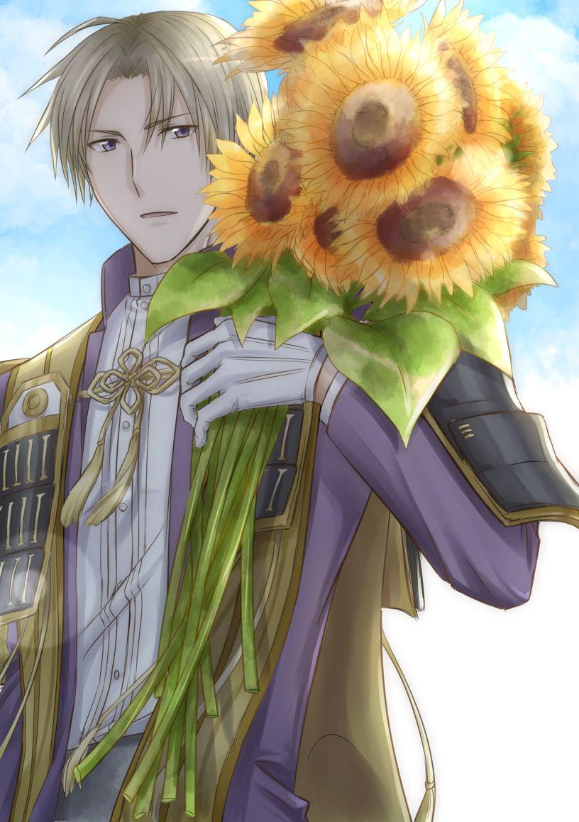 hasebe heshikiri toudan sunflower artista de pixiv que wapo touken ranbu 織田 兵衛 刀剣 乱舞