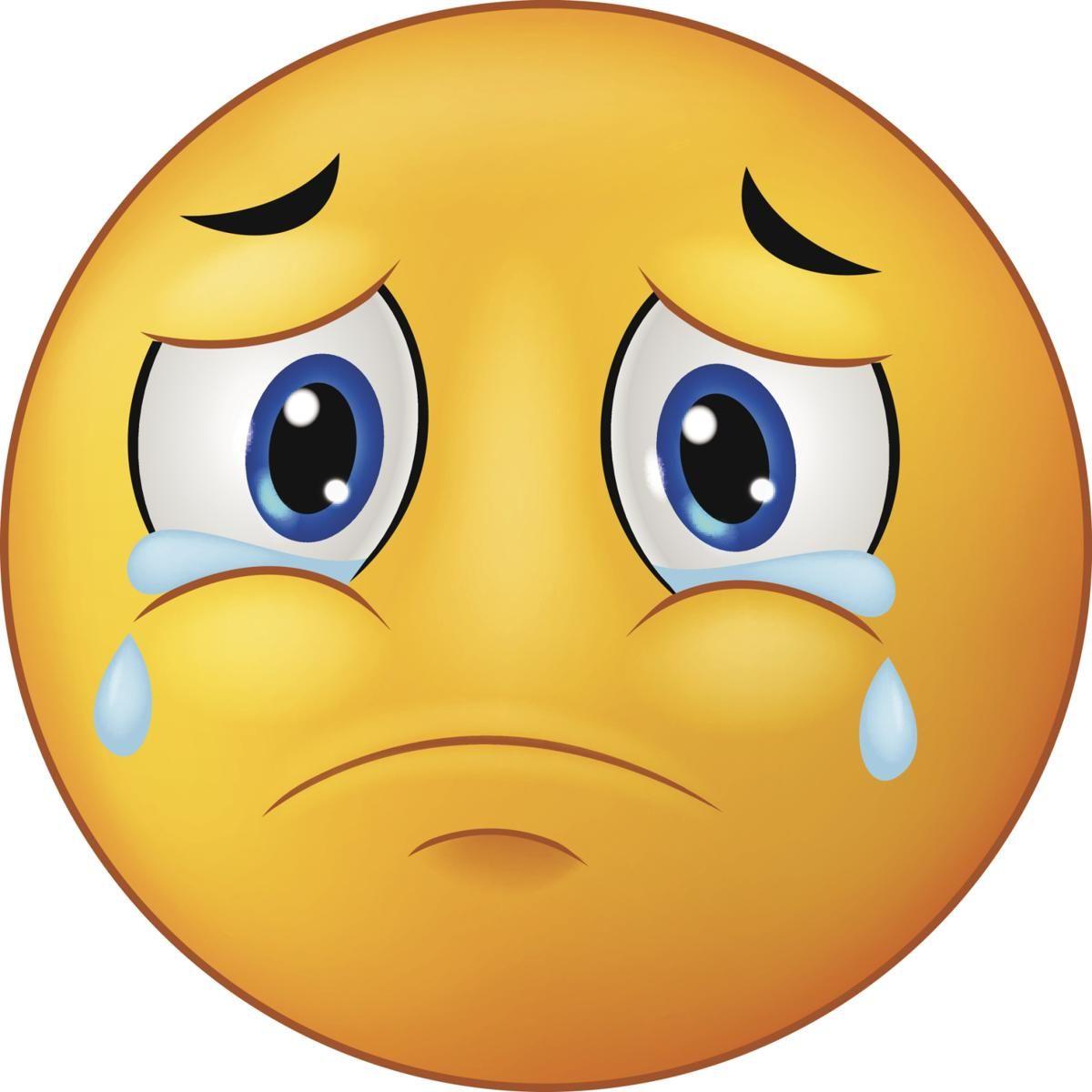 sad emoticon | Smiley emoji, Emoticon faces, Crying emoji