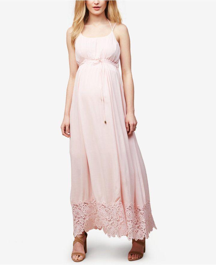 ef90d5a9258 Motherhood Maternity Lace-Trim Maxi Dress -  affiliate