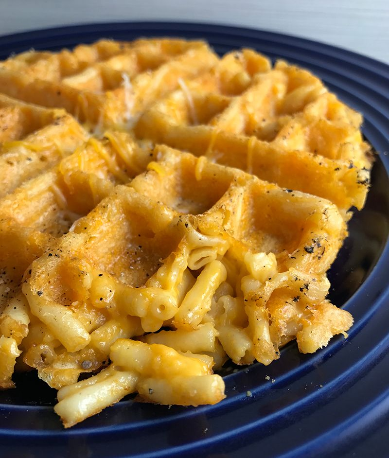 quick and easy macaroni cheese waffles recipe mac cheese rh pinterest com