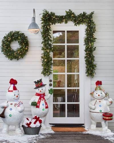 outdoor fiber optic snowman band outdoor decorating ideas rh pinterest com