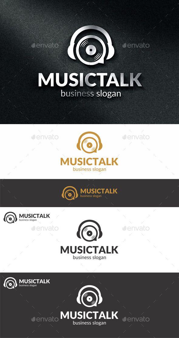 Music Talk Logo Music Logo Logo Design Sound Logo
