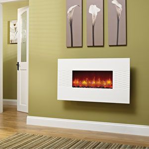 firenze wall mounted electric fire with white fascia on housing rh pinterest com