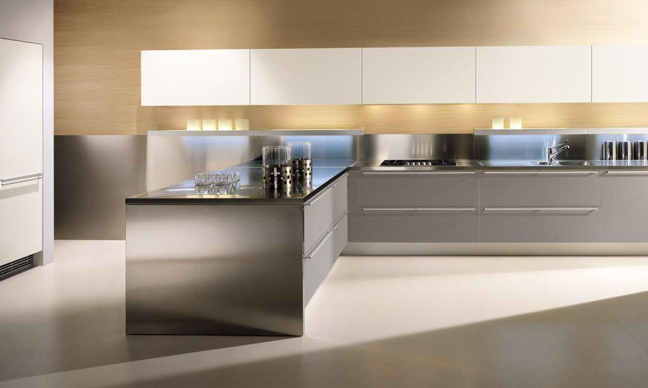 10 stylish aluminium stainless steel kitchen designs italian rh pinterest com