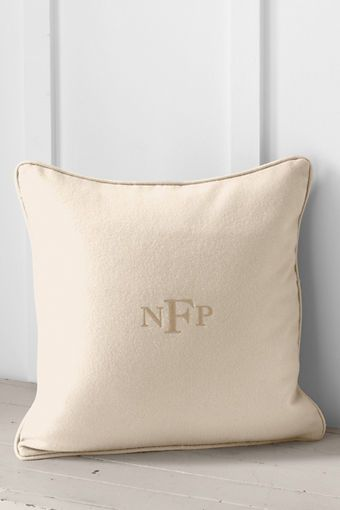 40 X 40 Monogram Pillow Cover From Lands' End For The Home Fascinating Lands End Decorative Pillows