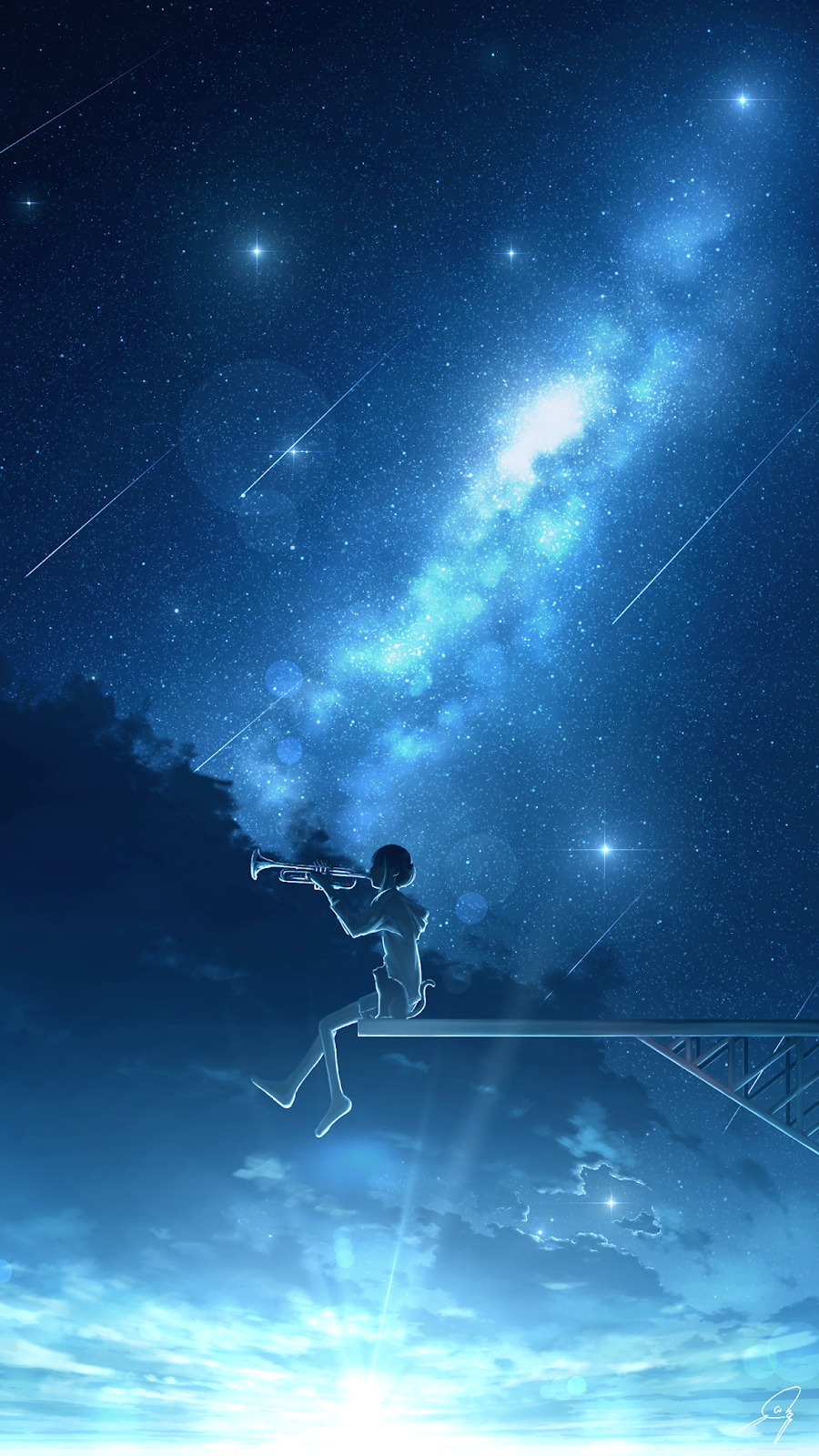 Under The Starry Night Wallpaper Iphone Android Background Followme Night Scenery Starry Night Wallpaper Scenery Wallpaper