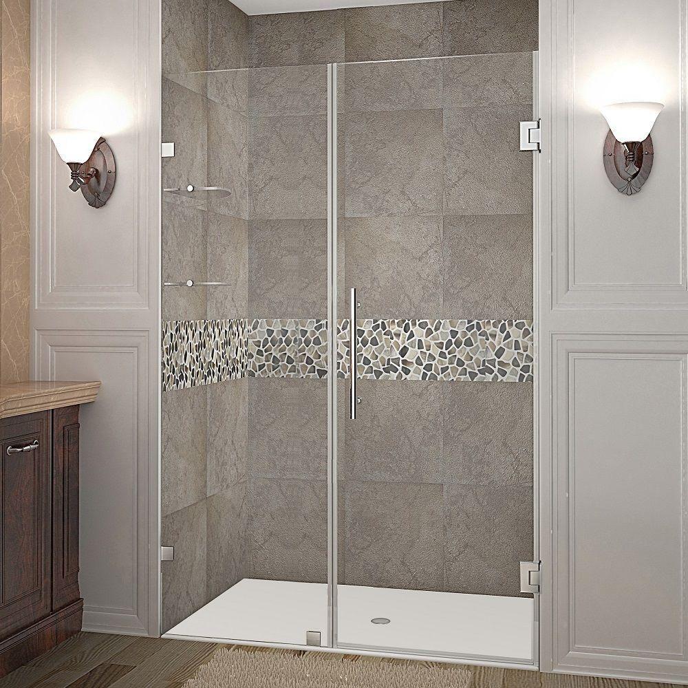 aston nautis gs 44 in x 72 in frameless hinged shower door in rh pinterest com