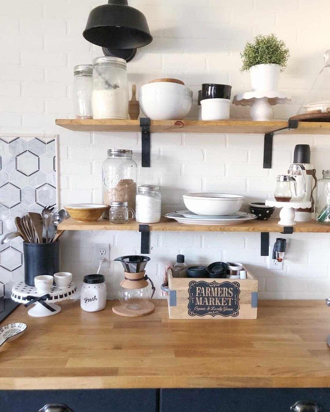 open shelving kitchen openshelving kitchen farmhousekitchen open kitchen shelves kitchen on farmhouse kitchen open shelves id=55481