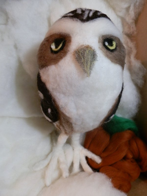 Needle felted wool owl by Windsong Artworks/Jennifer