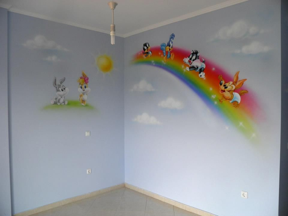 Baby Looney Tunes room | ...airbrush | Pinterest | Looney tunes ...