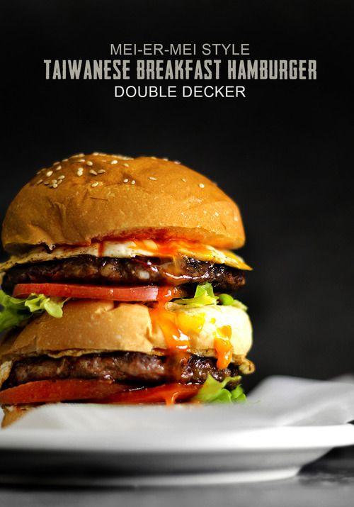 double-decker breakfast burger.