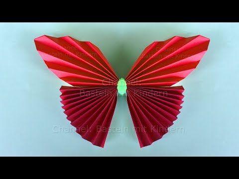 basteln mit kindern einfachen origami schmetterling falten mit papier diy muttertag youtube. Black Bedroom Furniture Sets. Home Design Ideas