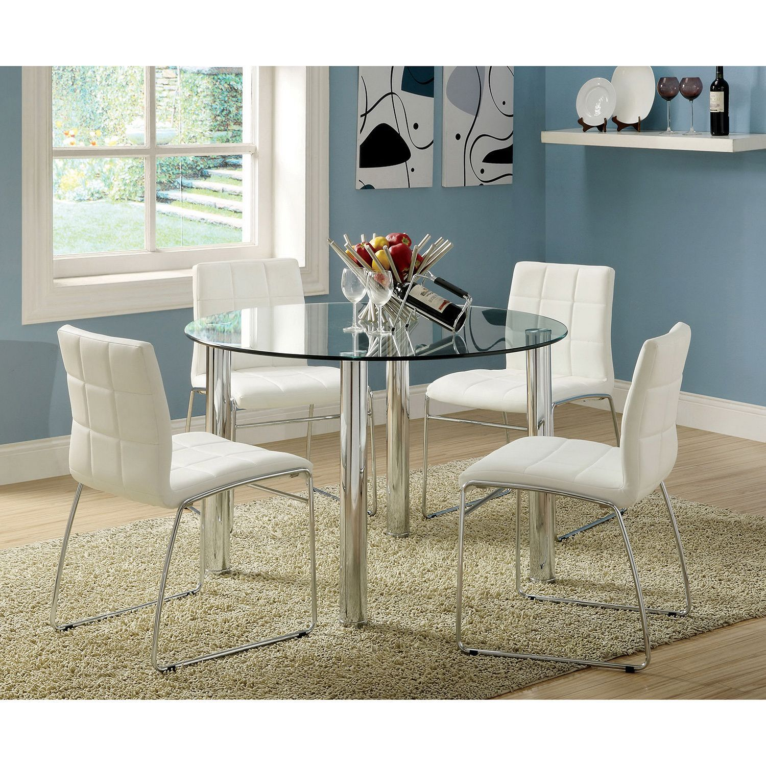 Furniture of America Donnabella 5 piece Chrome plated Steel