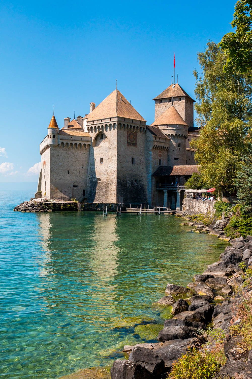 A Castle In Switzerland Visiting Chateau De Chillon At Lake