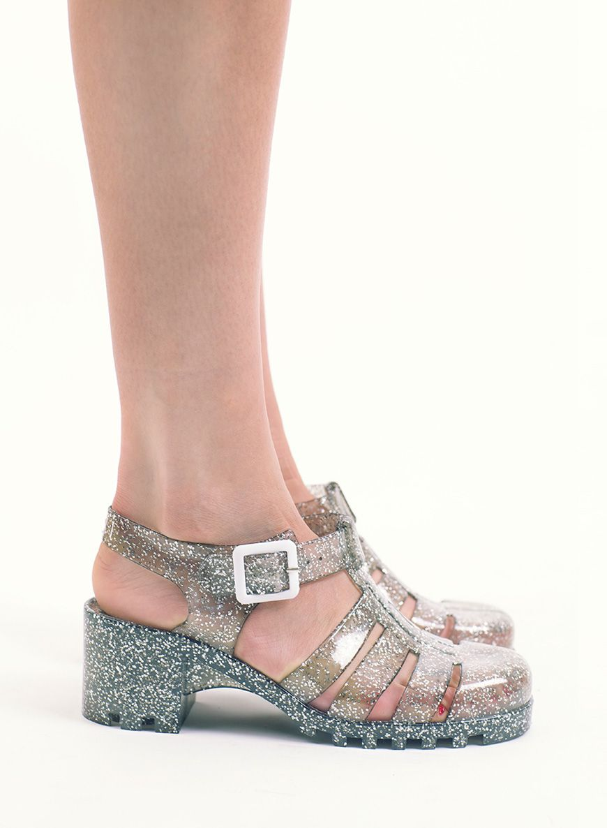 57d6731b8f75 Silver Glitter Jelly Shoes - Love Clothing.com - £15 in the sale for half  price. Also saw a pair exactly the same for £3 in Primark #JellyShoes