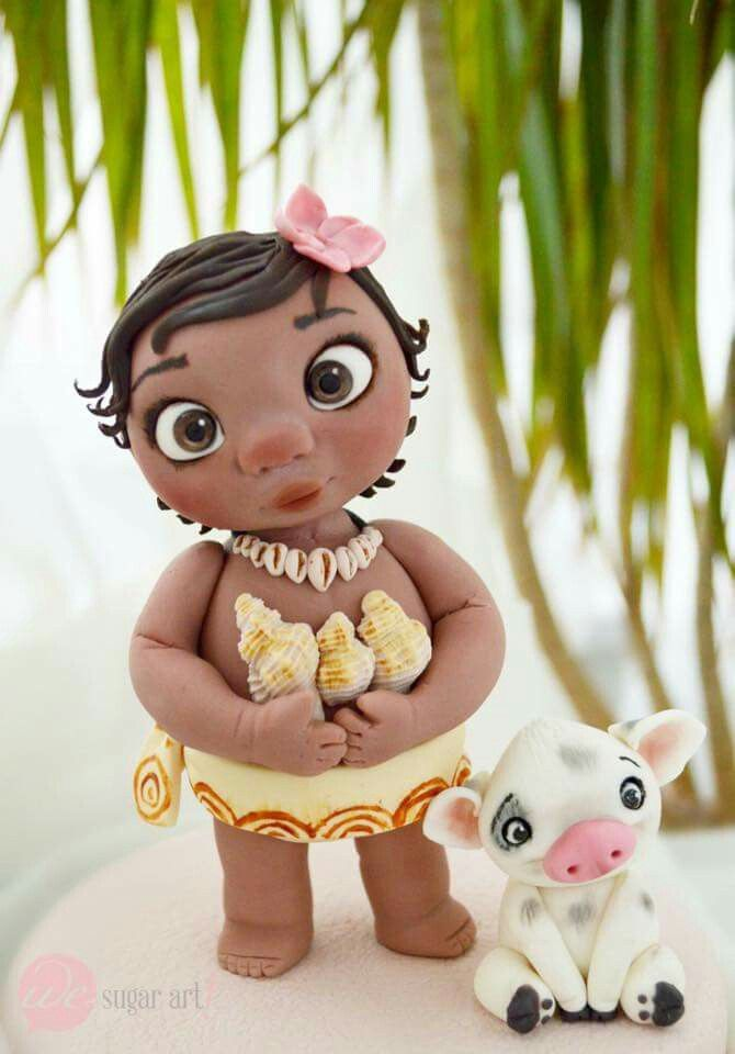 Baby Moana Topper Princess Cakes Cupcakes And Cookies