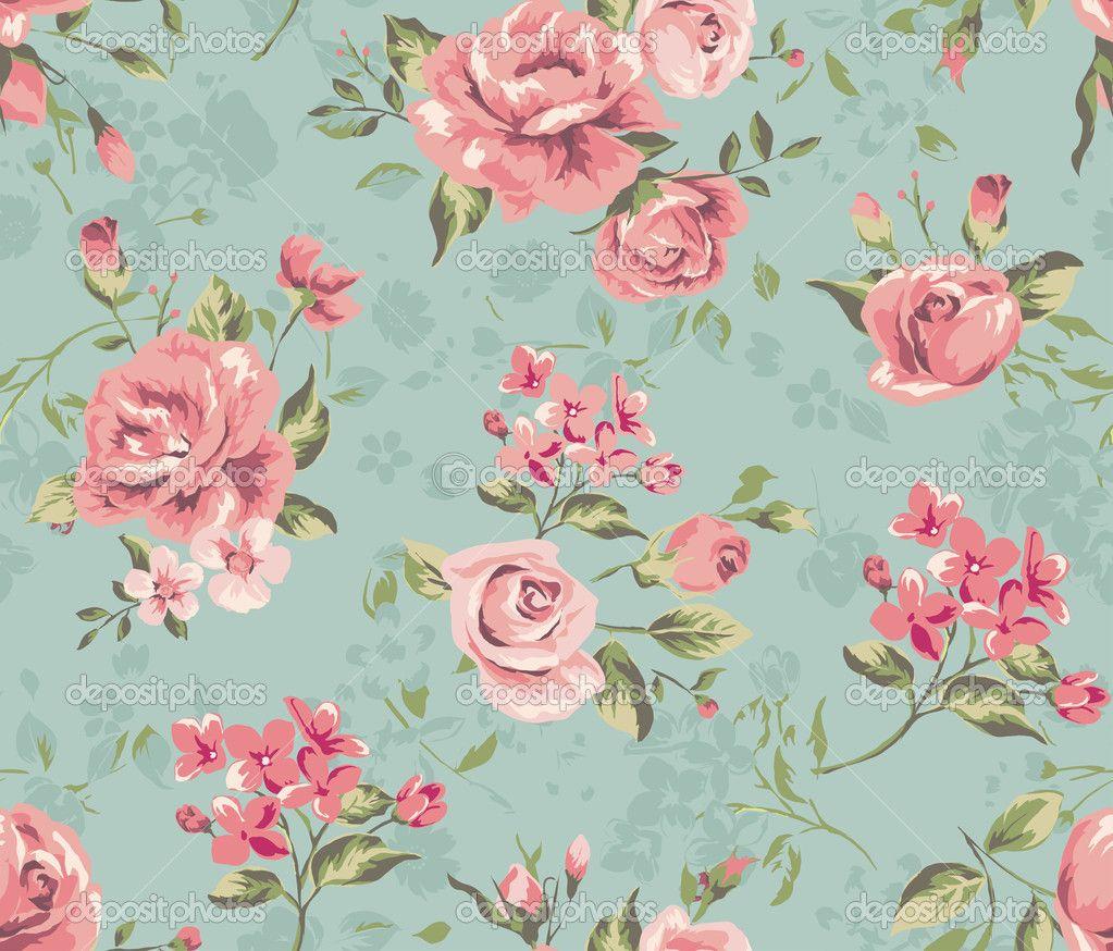 Classic Seamless Vintage Flower Pattern Wallpaper 98806 Resolution 1023x874 P Papel De Parede Flores Papel De Parede Floral Papeis De Parede Florais Vintage