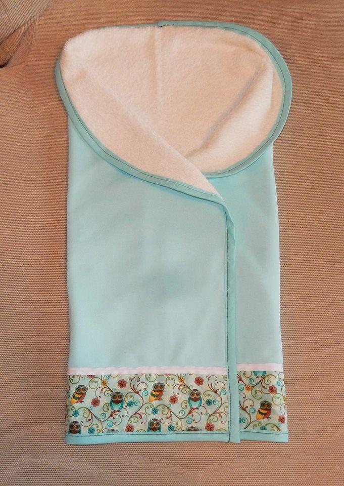 Arrullo para recién nacido color aguamarina Interior de toalla