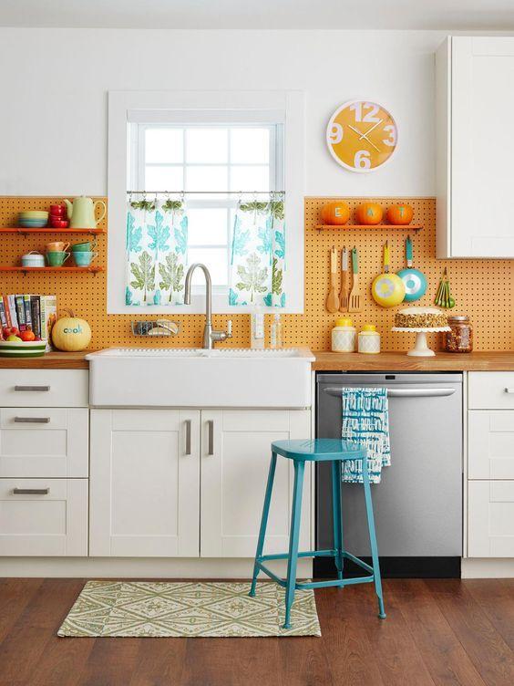 12 manualidades con tableros perforados kitchens pinterest rh pinterest com