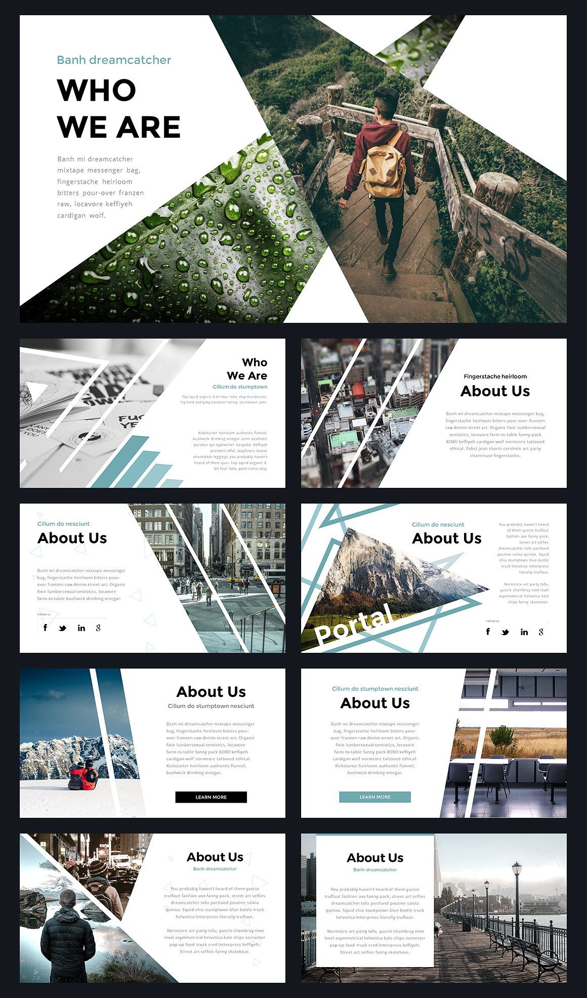 Portal modern powerpoint template portal template and for Best online photo gallery