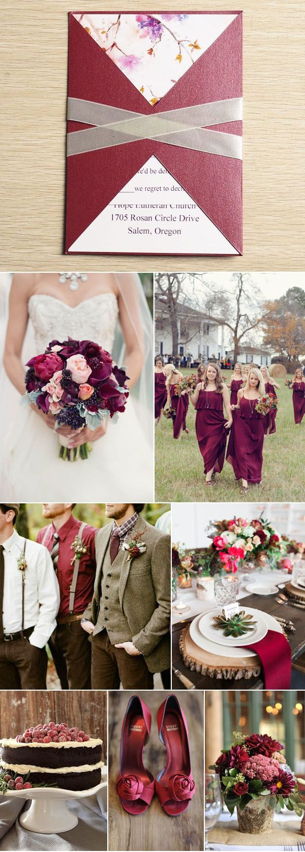 Ten Beautiful Fall Wedding Invitations To Match