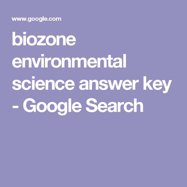 Biozone Environmental Science Answer Key Google Search