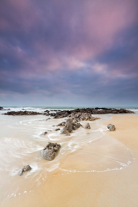 TrengandAn Rocks Beach in Noja, Cantabria_ Spain