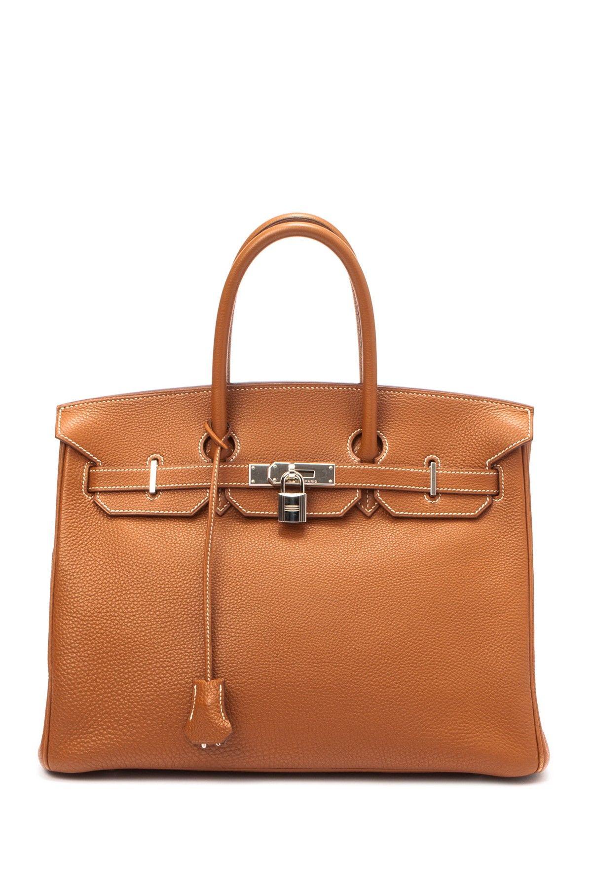 6d741b9d136 Vintage Hermes Birkin 35 Stamp Square G Silver Hardware Handbag on HauteLook